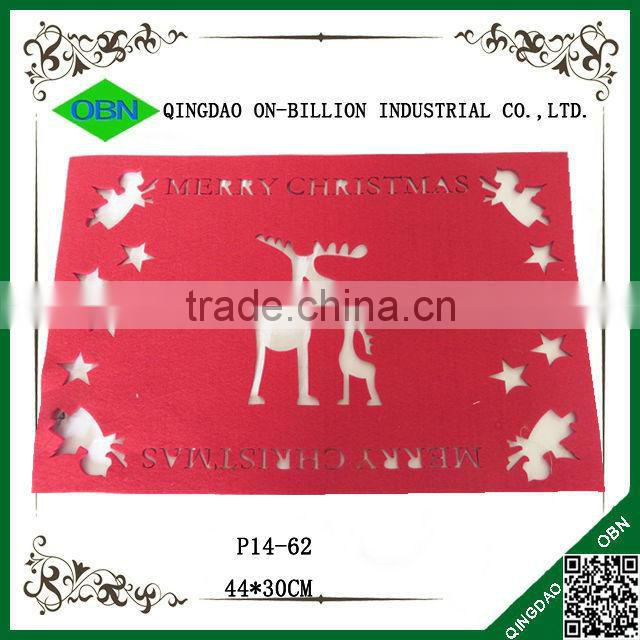 Red laser felt christmas placemats