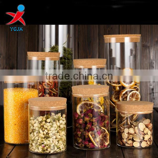 storage cans/ transparent bottle/ flower tea/ball style/with cork