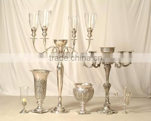 gold plated crystal votive wedding candelabra