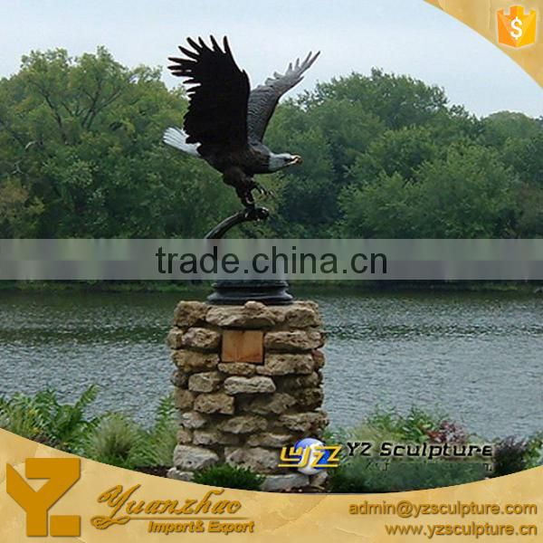 Outdoor Decoration Life Size Exclusive Bronze Eagle Sculpture