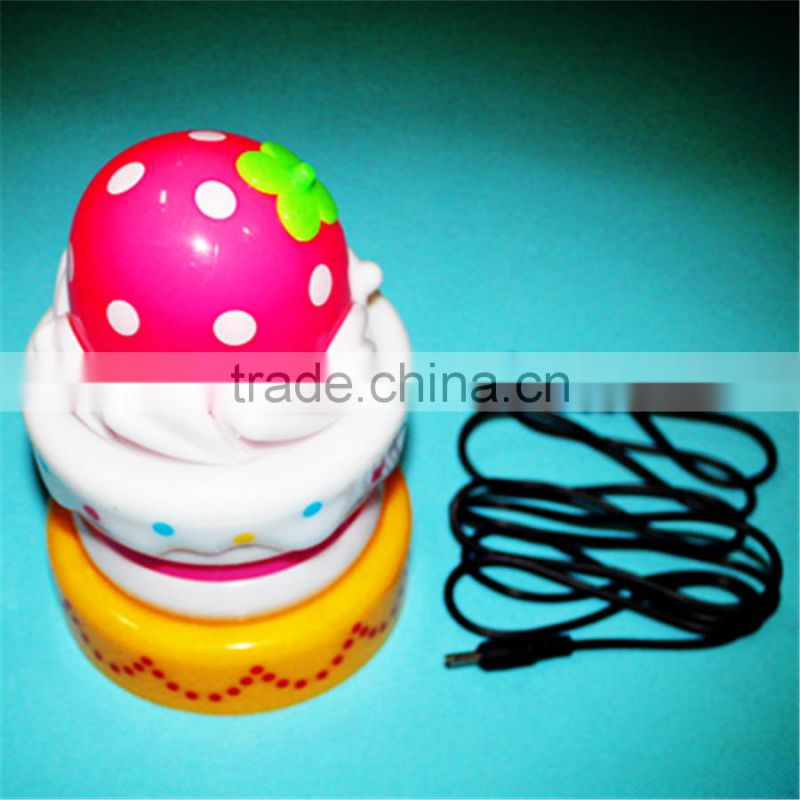 2015 hot selling birthday gift led touch light cake shape led touch light