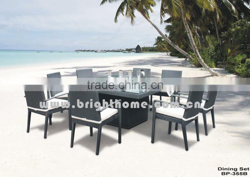 Chair and Table set BP-355 PE rattan wicker Leisure Outdoor Products