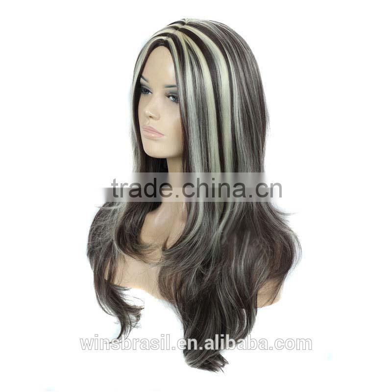 Wholesale european hot selling kinky curly wigs grey waving wigs lace front wig