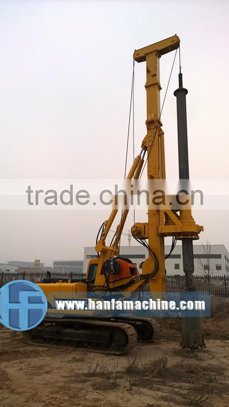 HF525 small rotary piling rig for sale with CE & ISO certification engineers oversea service ok