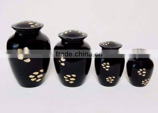 black shiny high quality decorative urns