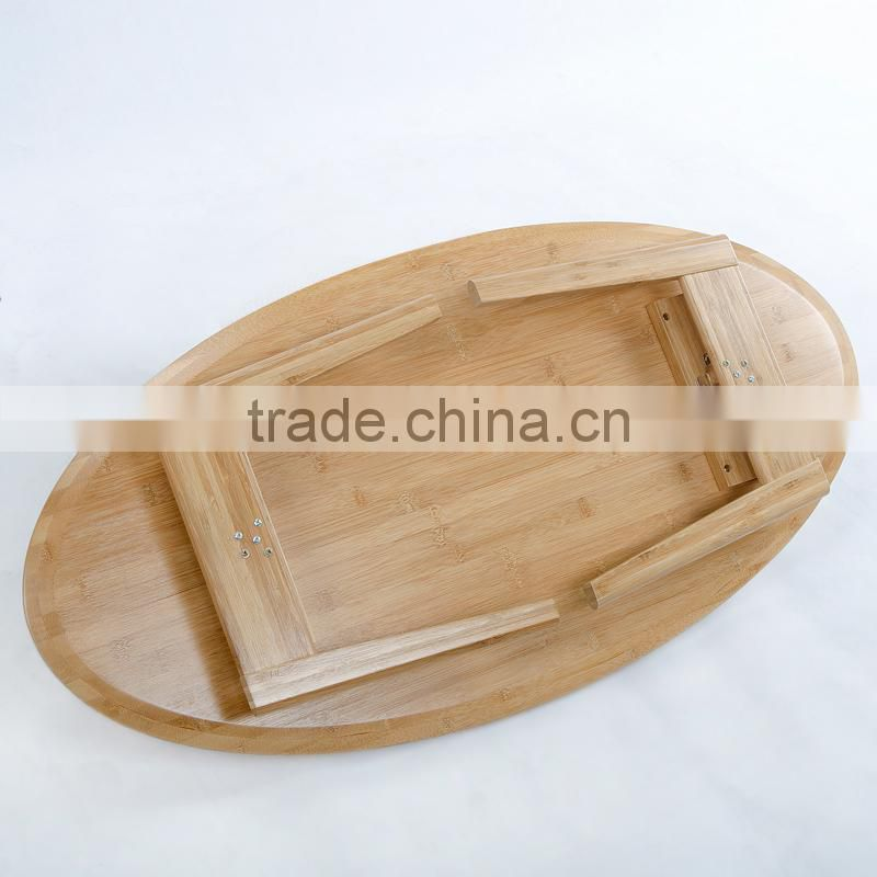 Environmental natural bamboo foldable table for tea or coffee