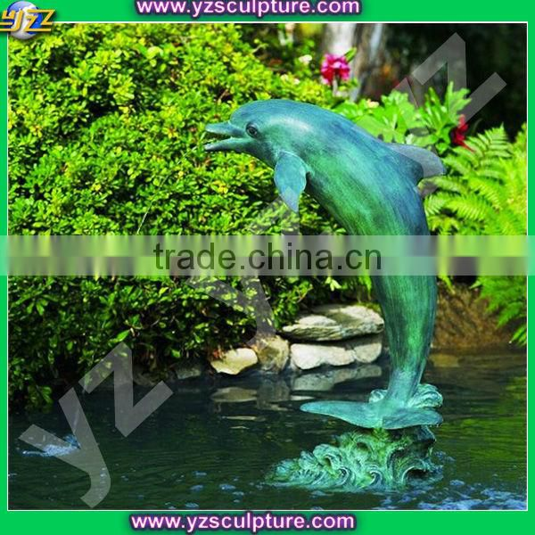 garden dolphin bronze water fountain for sale