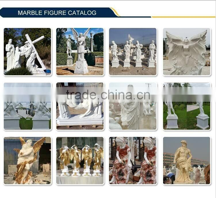 outdoor garden decoration life size two large mixed color western figure marble lady statue