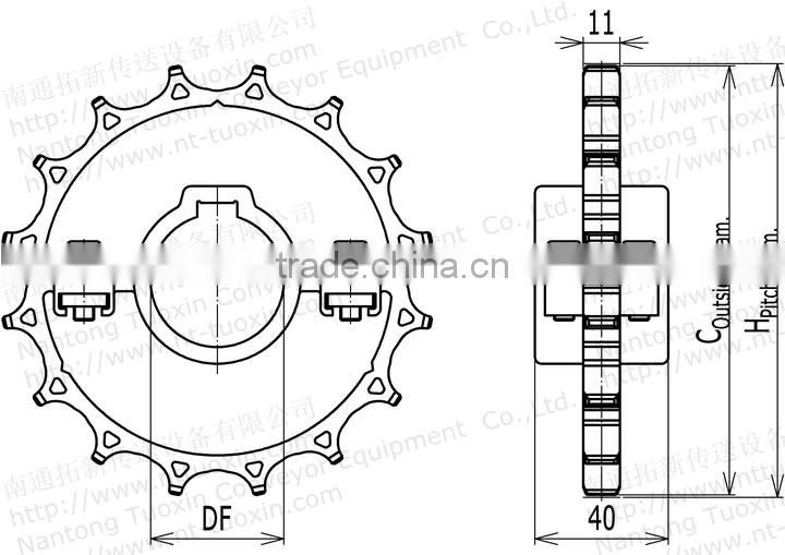 Plastic Split Chain Sprocket