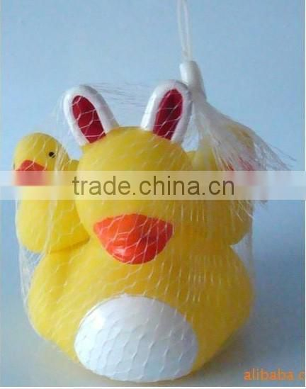 Floating rubber duck eco-friendly baby bath family duck set