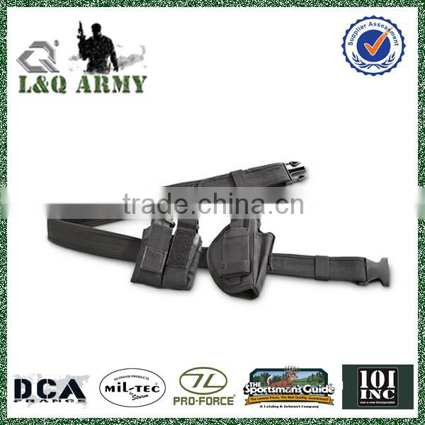 Military style Belt with Holster and Pouch