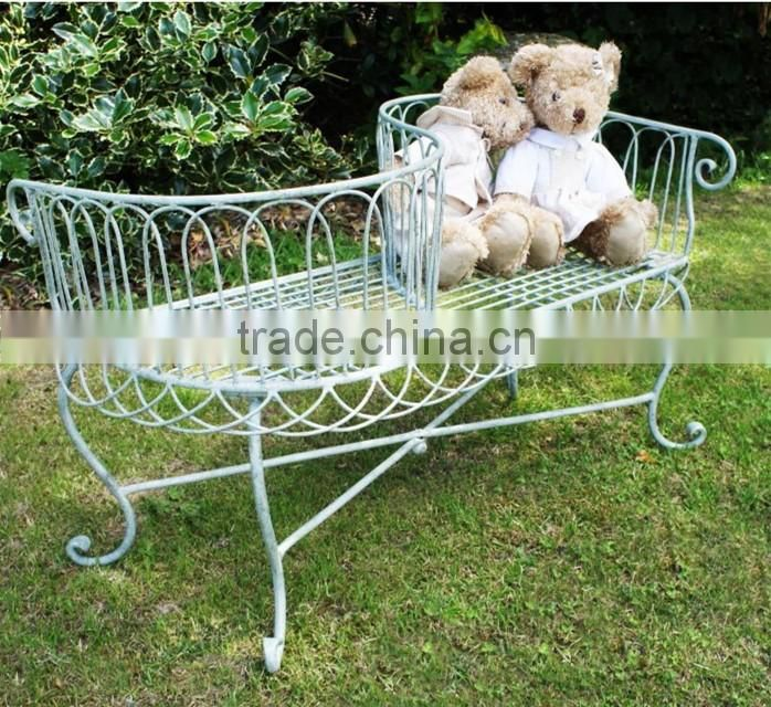 Custom outdoor wood and iron bench for sale NTIRH-014Y