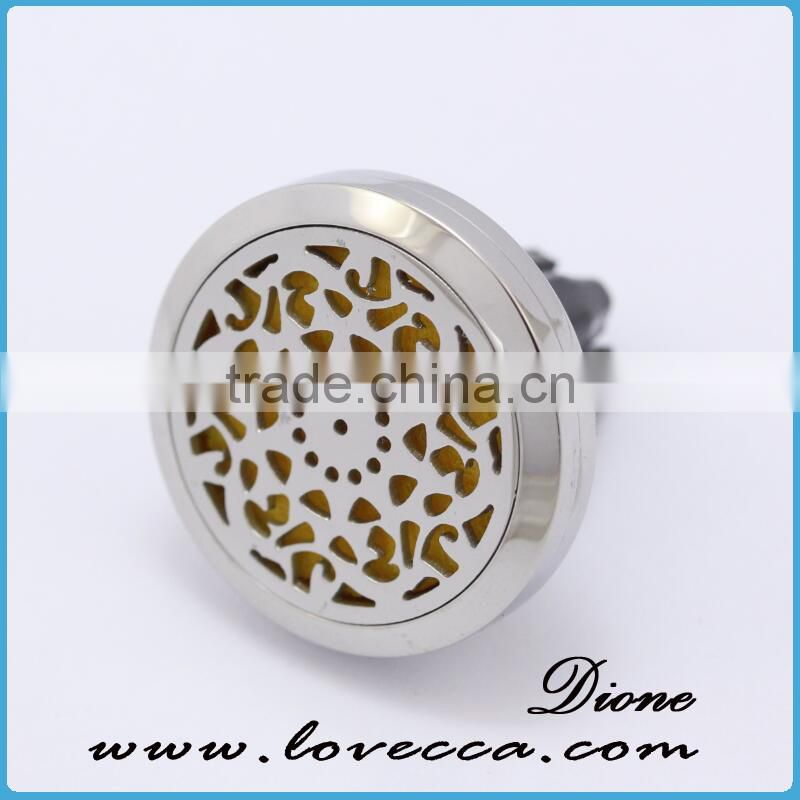 Stainless Steel Vent Car Air Freshener Aromatherapy Essential Oil Diffuser