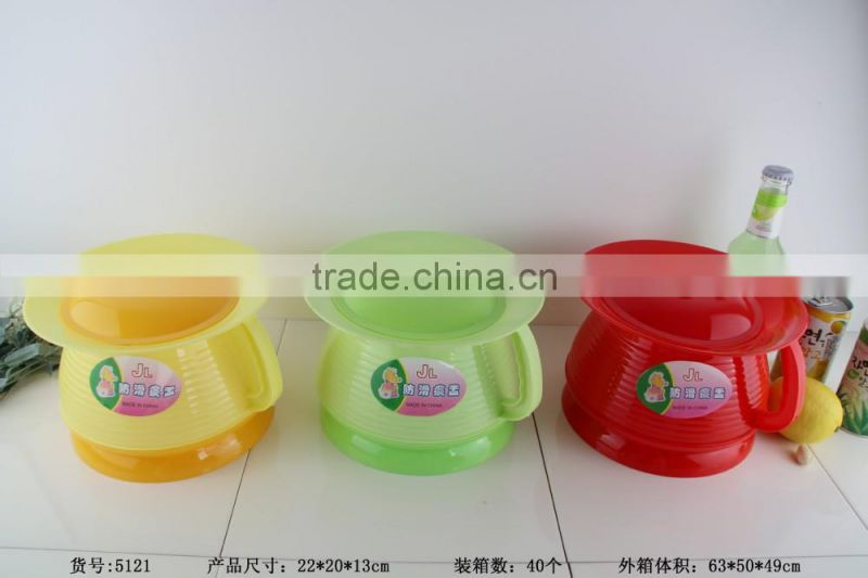 Practical and durable plastic dental spittoon