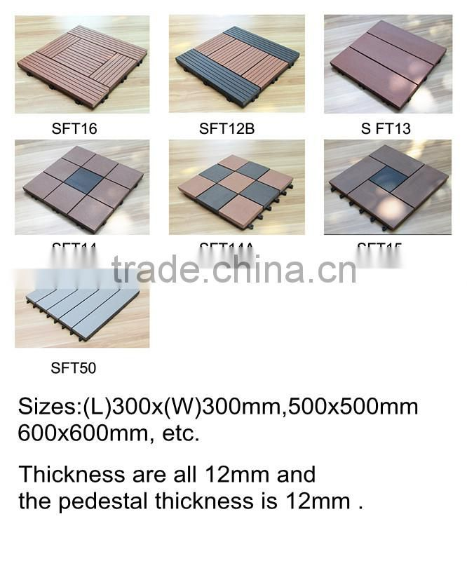 wpc plastic decking tile for kitchen
