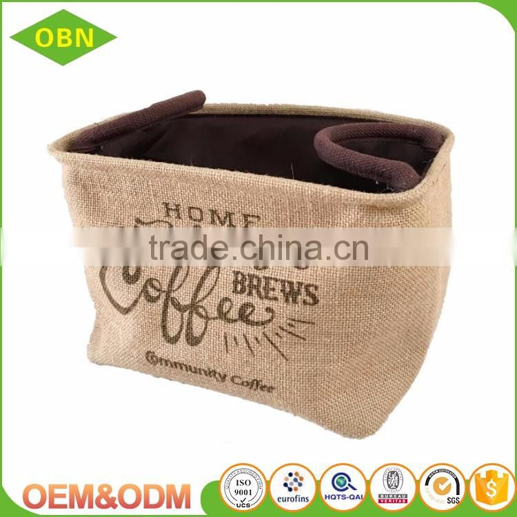 Wholesale China cheap household sets 2 decorative corner woven jute toy storage basket