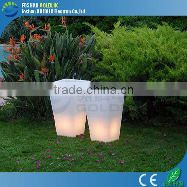 Battery Powered LED Lighted Planter Pots