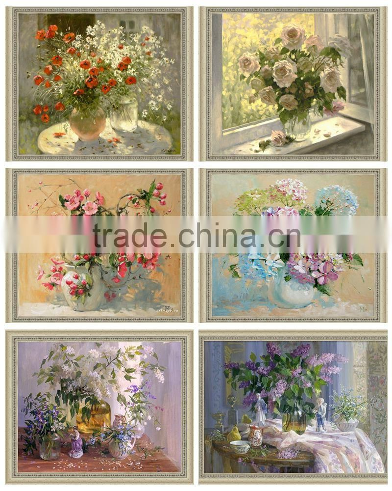Famouse Flower Painting Wall Pictures for Living Room