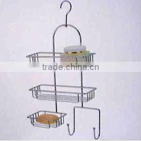 2 TIER STAINLESS STEEL CORNER RACK