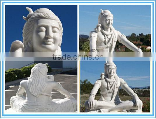 Carving eagle children white marble statue for decoration NTMS-008LI