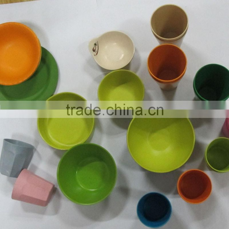Bio Biodegradable Hot design Bamboo Fiber Dinnerware Sets