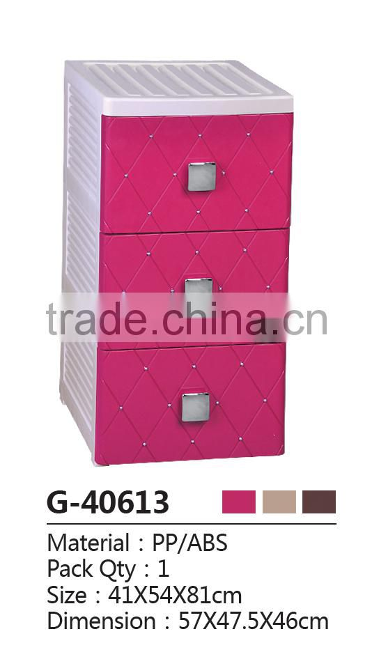 Classical romantic European Style plastic drawer cabinet /storage box