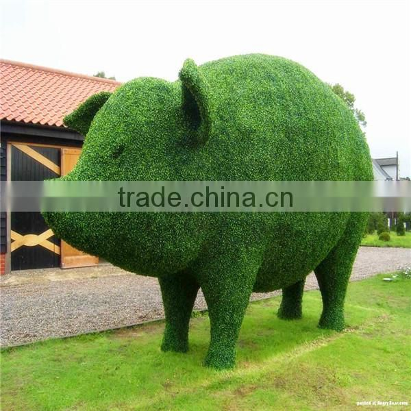 Artificial green grass boxwood topiary plastic animal shape boxwood handmade grass topiary animal cheap price