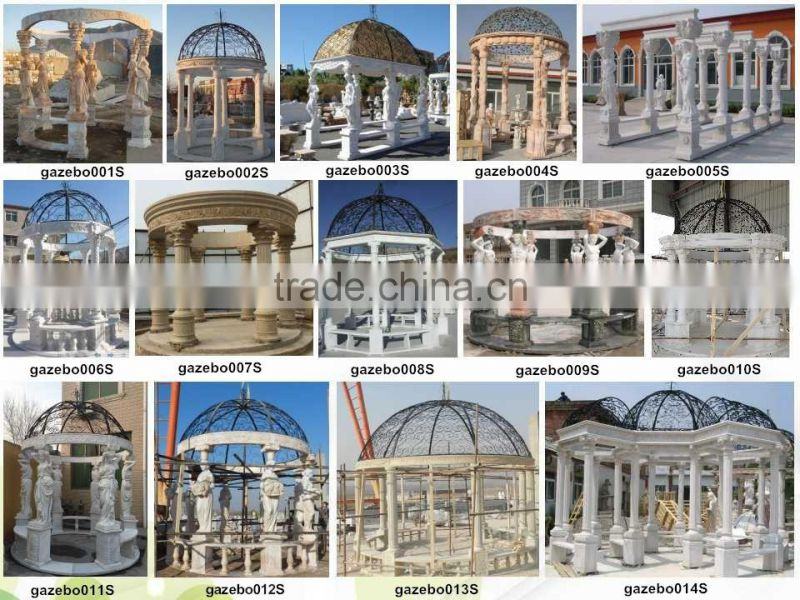 China hand carved large outdoor white marble gazebo NTMG-271S