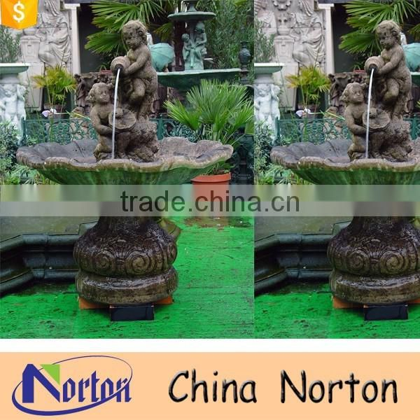 Italian style garden decoration antique stone fountain NTMF-W239A