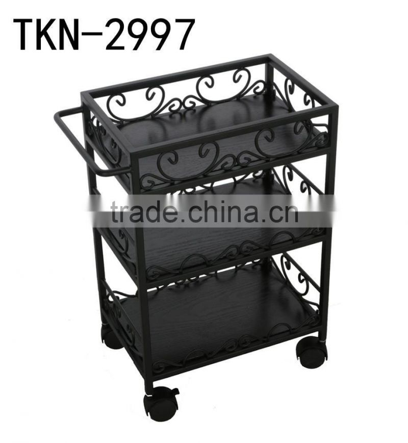 Portable manicure furniture cabinet with movable stool inside for Nail Salon TKN-2997