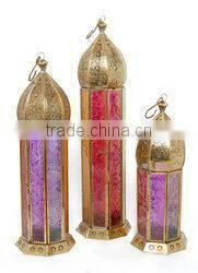 gold lantern for decoration
