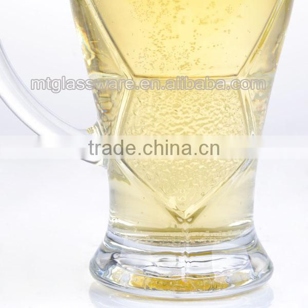 Foot ball world cup beer glass with handle