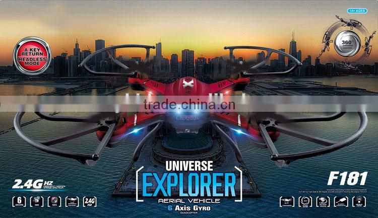 2015 Newest 6-Axis Air drone hd camera With Light universe Explorer F181