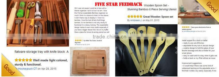 Bamboo steak knives storage tray cooking knives holder Homex BSCI/Factory