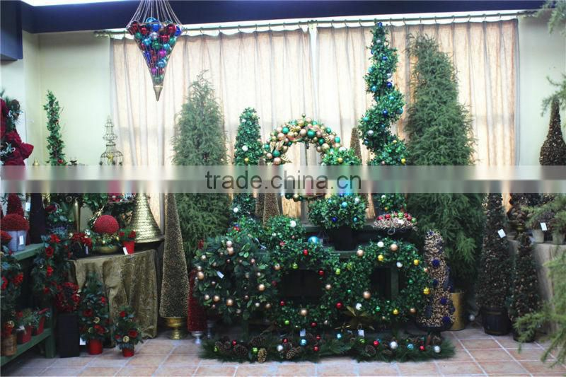 mini / huge artificial christmas pine tree / ring / flower for home / hotel / office (new christmas combination of Este-010 )