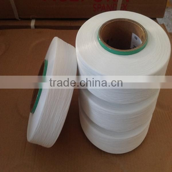 Low price spandex yarn 70D raw white for covering and knitting
