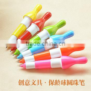 bowling shaped advertising ball pen for promotion