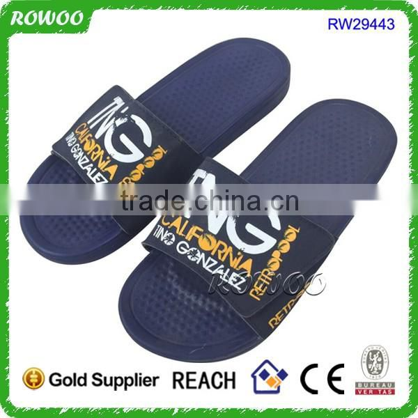 Promotion Mens Footwear Flip Flop Sandal Printing Swimming Slide Sandals