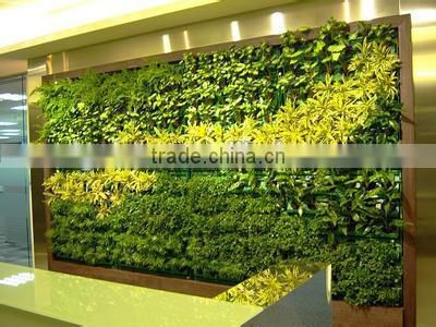 Factory wholesale artificial grass wall uv resist artificial living plant moss wall