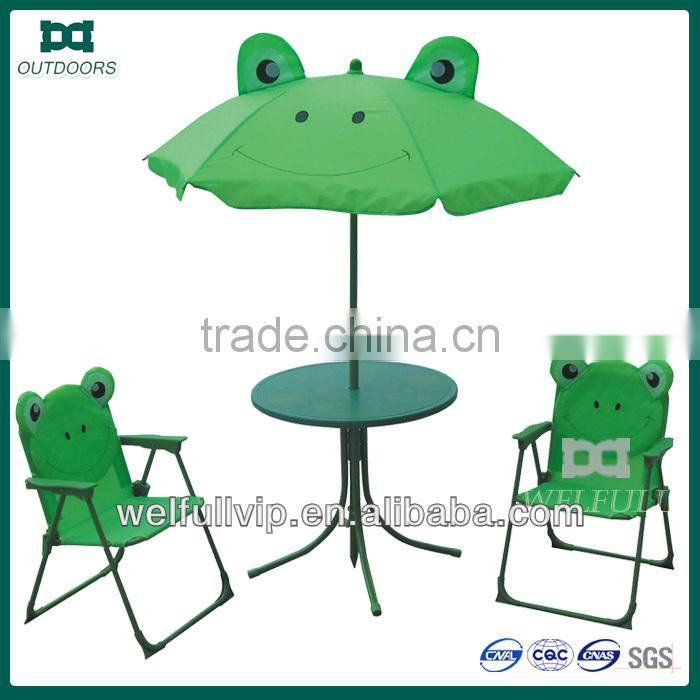 Kids camping tables and chairs beach umbrella
