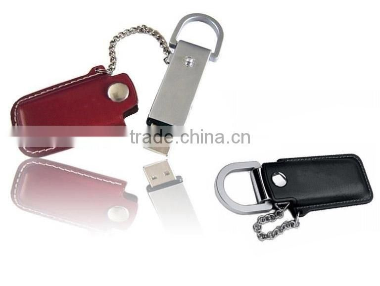 usb gift ideas for girlfriend, black leather USB