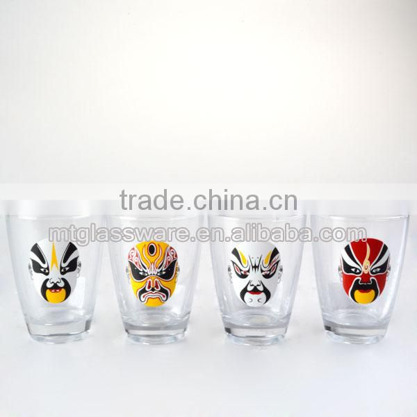 60-86ml top grade 6 colorful mini wine shot glass set