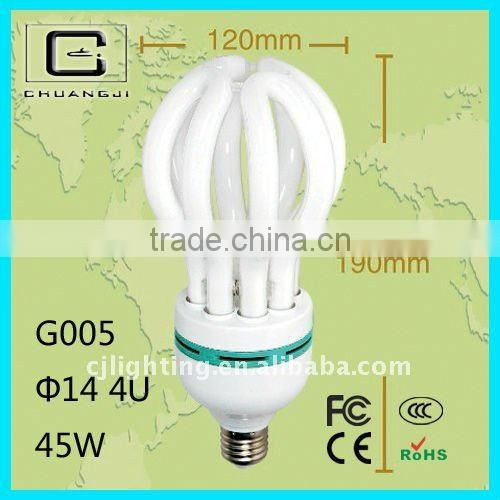 45W durable advanc quality super-brightness energy saving lotus energy saving light bulbs 220v