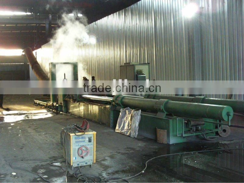 Automatic medium frequency pipe elbow machine