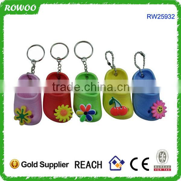 Top Quality Logo Printed EVA Foam Slipper KeyChain