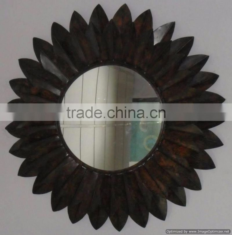 sun design metal fancy mirror