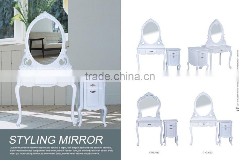 2015 Beautiful and Modern Decorative Wall Hair Salon Styling Mirror Station