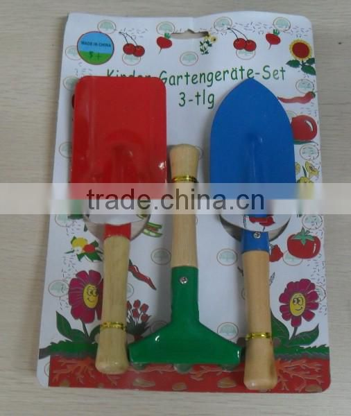 Different Color Children Garden Tools With Color Card
