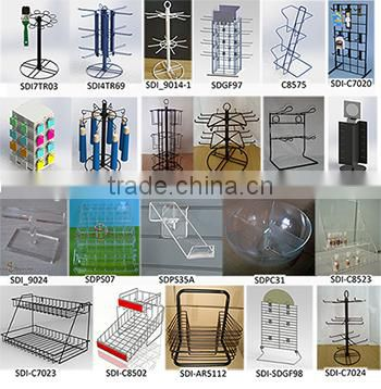 CS8520 counter top tea display rack with side brochure holder