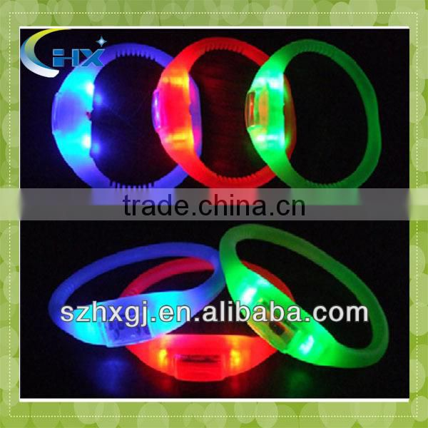 sound control led bracelet,led flashing bracelet,light up bracelet